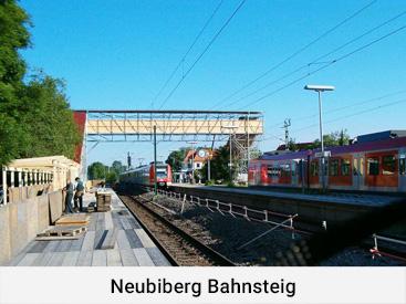 Neubiberg Bahnsteig