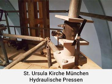 St. Ursula Kirche München Hydraulische Pressen