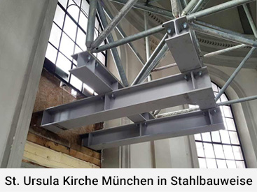 St. Ursula Kirche München in Stahlbauweise